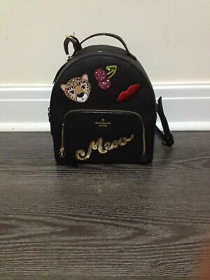 $ CDN145 • Buy Kate Spade Run Wild Leopard Tomi Backpack Leather NWT $399
