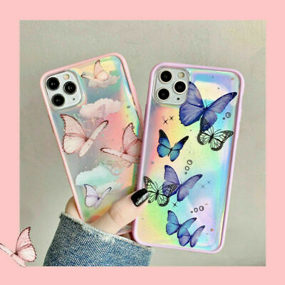AU11.63 • Buy Girl's Butterfly Bling Laser Case Cover For IPhone 12 Pro Max 12 Mini 11 Pro XR
