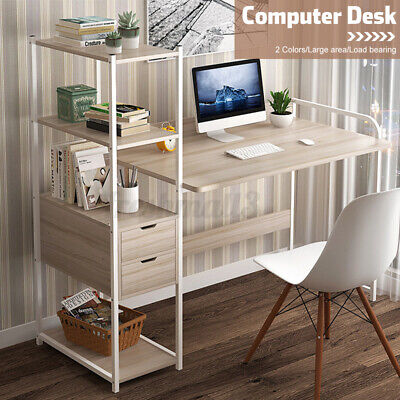 AU89.89 • Buy 5 Tier Computer Desk Table Home Office Study Workstation Bookshelf W/ 2 Drawers