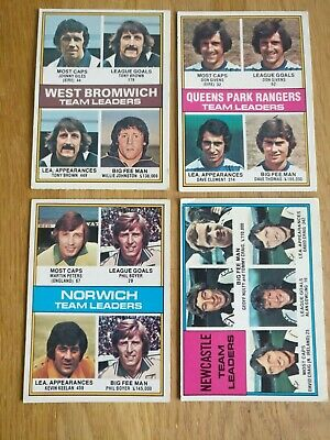 £1.45 • Buy Topps Chewing Gum Team Leaders Football Cards 1977 Red Back - You Choose!