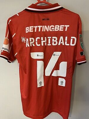 Theo Archibald Lincoln City Signed Shirt. • 68.66£