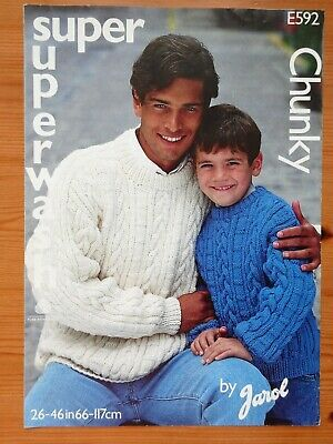 Chunky Sweater Knitting  Pattern   26   To 46     Chunky • 1.30£