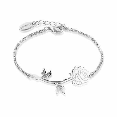 £27 • Buy Disney Couture Kingdom Beauty & The Beast White Gold-Plated Rose Bracelet