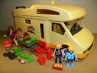 PLAYMOBIL MOTORHOME With Camping Equipment 3647 (Camper Van,see Description)  • 10.99£