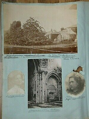 Page Of 5 Antique Photos The Yew Tree Ballynure Near Clones; Ballinderry Church • 21£