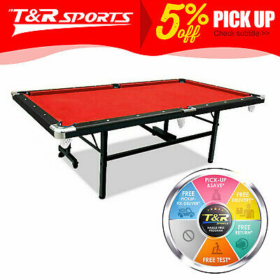 AU608.99 • Buy 2020 New 8FT Red Foldable/Fold Away Pool Table Billiard Table SpaceSaving