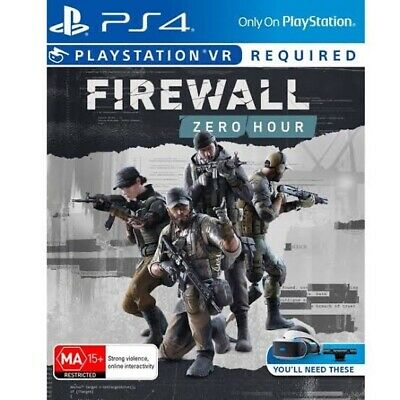 AU28.50 • Buy Firewall Zero Hour PS4 VR New & Sealed In Stock FAST DELIVERY