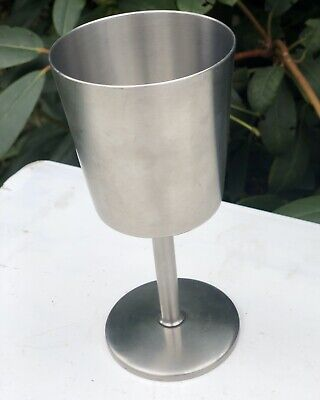 Stainless Steel Old Hall Tall Thin Chalice Glass Drinking Vessel Cup Goblet • 19£