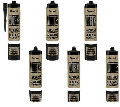 The Works Pro Sealant MS Polymer Multi Purpose Adhesive Wet Dry Seal Underwater • 52£
