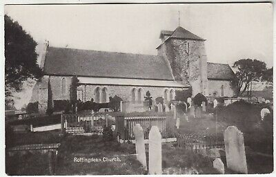 ROTTINGDEAN CHURCH - By A H Homewood / Burgess Hill - C1910s Real Photo Postcard • 2.50£