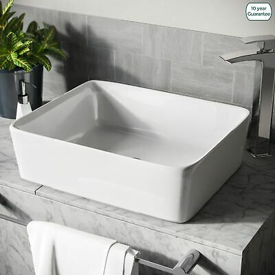 £34.99 • Buy 485 Mm Rounded Counter Top Basin Rectangle Cloakroom Bathroom Sink   Leven