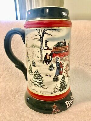 "$ CDN12.96 • Buy 1991 Budweiser Holiday Stein ""The Season's Best"" Collectible Near Mint"