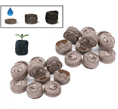 JIFFY-7 Small Peat Compost Plug Seed Grow Propagation Hydro Pellets 24 X 43mm • 5.99£