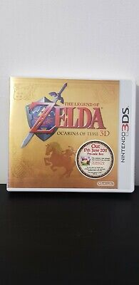 The Legend Of Zelda Ocarina Of Time 3d Nintendo 3ds Pre Sale Box And Poster • 30£