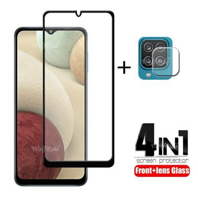 £6.57 • Buy 4-in-1 For Samsung Galaxy A12 Glass For Samsung A12 Tempered Glass Full Glue HD