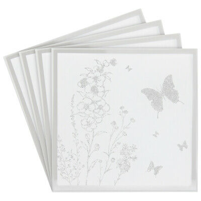 £7.95 • Buy Mirror Glitter Butterfly Coasters Dining Table Mat Glasses Cup Mug Coasters