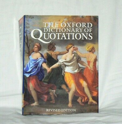 The Oxford Dictionary Of Quotations, Editor Angela Partington, Hardcover • 2.99£