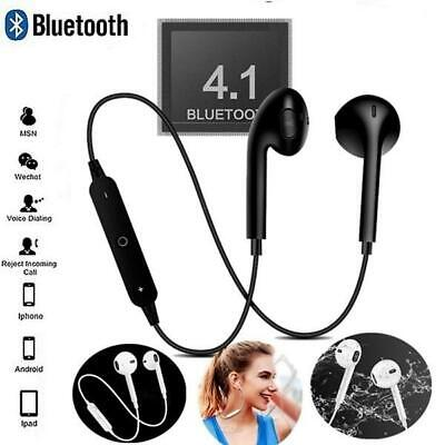 Wireless Bluetooth Earphones Headphones Sport Gym For Samsung & IPhone UK STOCK • 4.99£