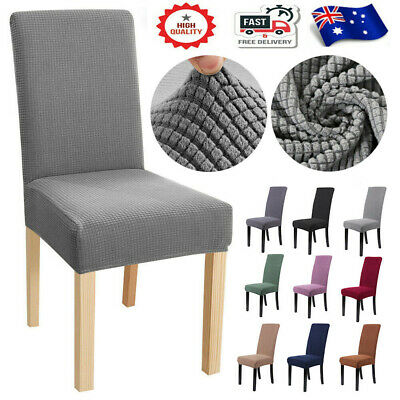 AU45.99 • Buy Luxury 1/4/6/8PCS Dining Chair Covers Stretch Slip Cover Wedding Banquet Party