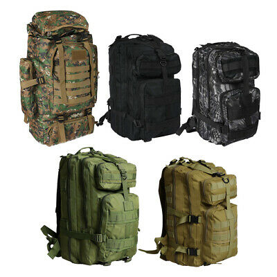 AU25.99 • Buy 30L/40L/80L Military Tactical Backpack Rucksack Camping Outdoor Trekking Bag