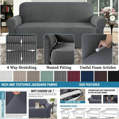 AU21.99 • Buy Premium Sofa Cover Couch Covers Lounge Protector Slipcover Stretch 1/2/3/4Seater
