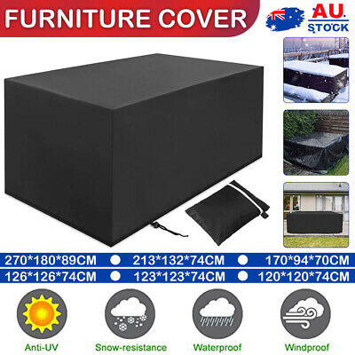 AU19.56 • Buy AU Waterproof Outdoor Furniture Cover Garden Patio Rain UV Table Protector Chair