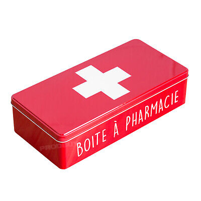 £9.99 • Buy Empty Red First 1st Aid Storage Tin Box Container Plasters Bandages Medicine