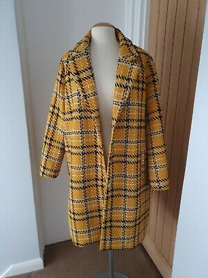 Size 18 Mustard Checked Lined Coat From TU  • 8£