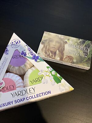 Yardley London Luxury Soap Collection 3 X 50g Plus Flowerful Collection 5 X1.5ml • 11.75£