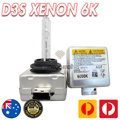AU69.99 • Buy 2pc D3S Bi-Xenon Bright HID Bulb Replacement For 6000k 35W