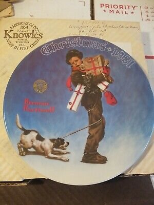$ CDN22.97 • Buy Norman Rockwell Christmas Limited Edition Edwin Knowles Plates ~ 1981, 1983