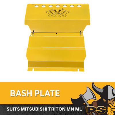 AU189 • Buy Yellow Bash Plate 2pc For Mitsubishi Triton MN ML 4MM Underbody Sump Guard