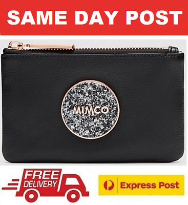 AU45 • Buy Mimco Bliss Small Pouch Wallet Clutch Black Rose Gold Bnwt Rrp$69.95 - Express