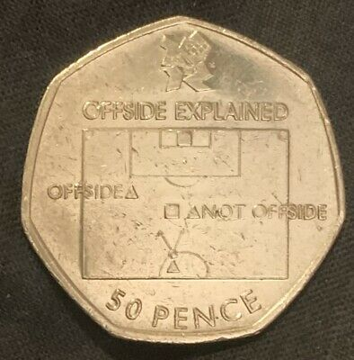 Olympic 50p Football Offside Rule  2011 • 2£
