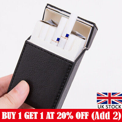 £7.19 • Buy PU Leather Cigarette Case Tobacco Storage Box Holder Cigar Protective Cover UK