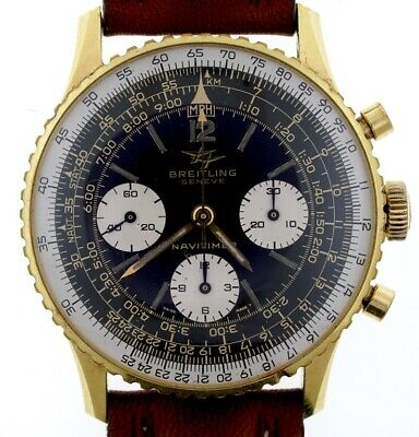 £3500 • Buy Breitling Vintage Navitimer 806 Chronograph Venus 178 Gents Gold Plated Watch