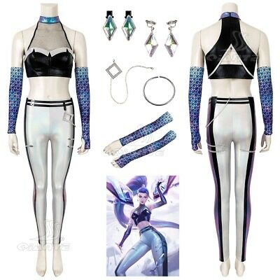 $ CDN80.01 • Buy KDA S10 All Out Kaisa Cosplay Costume Women Fancy Dress Sexy Lady Outfit