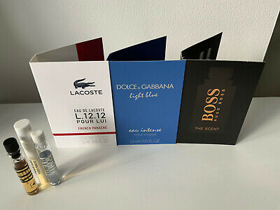 3 X Lacoste Hugo Boss D&g Mens Aftershave Perfume Mini Travel Samples New • 4.25£