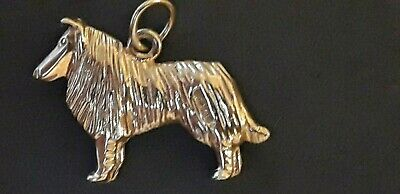 £85 • Buy Gold Collie Dog Charm