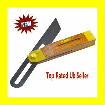 Wood Handle Sliding BEVEL Angle Marking Measuring Hand Tool Gauge Woodworking • 6.99£