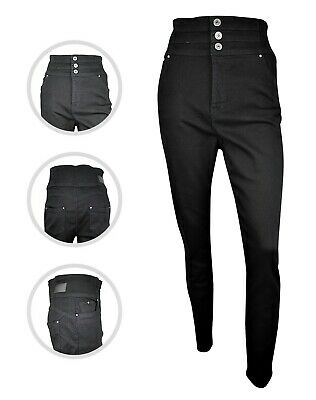 Womens Simply Be High Waist Shape & Sculpt Skinny Jeans Black Plus Size 16 - 30 • 14.97£