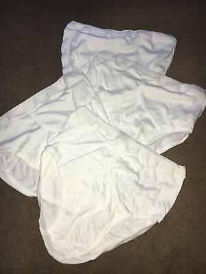 4 X Ivory Marks And Spencer M&S 100% Cotton Pants Deep Seated Y Fronts Medium • 8£