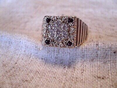 $1650 • Buy Mans 14k Diamond Ring With Ruby Accents