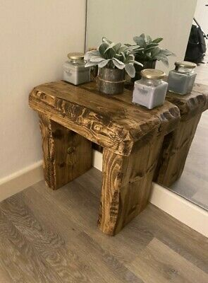 Rustic Reclaimed Coffee Table Side Table Bench Seat Armchair Hall Table 3 Colour • 47£