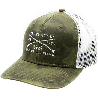 £14.20 • Buy Grunt Style Embroidered Logo Hat - Camo