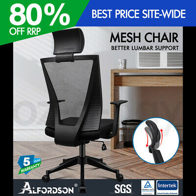 AU99.90 • Buy ALFORDSON Mesh Office Chair Executive Fabric Seat Gaming Racing Tilt Computer