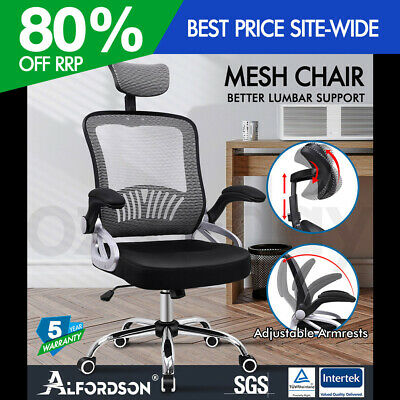 AU129.90 • Buy ALFORDSON Mesh Office Chair Executive Fabric Seat Gaming Racing Tilt Computer