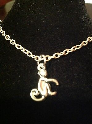 Braclet With Monkey Charm Silver Plated • 1.95£
