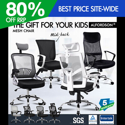 AU169.90 • Buy ALFORDSON Mesh Office Chair Executive Fabric Gaming Seat Racing Tilt Computer