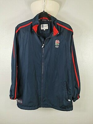 England Rugby Coat Rain Coat Shower Jacket Navy Size Small See Description • 16£